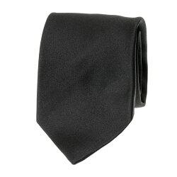 国産シルクサテンネクタイ ブラック フォーマル シルク100%
