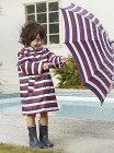 b・ROOM ボーダーレインコート/キッズ/夏/雨の日グッズ ナルミヤオンライン【送料無料】