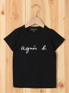 agnes b. ENFANT ENFANT/(K)S137 E TS キッズ ロゴTシャツ アニエスベー カットソー キッズカットソー ブラック ホワイト【送料無料】