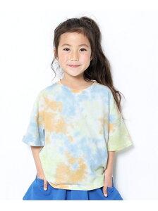 devirock BIGシルエットタイダイTシャツ デビロック カットソー Tシャツ ブルー パープル ピンク ブラウン