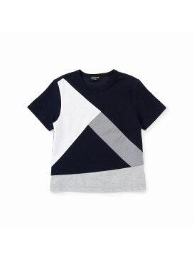 【SALE/50%OFF】COMME CA ISM ロンドンストライプブロッキングTシャツ コムサイズム カットソー【RBA_S】【RBA_E】