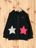 【SALE/35%OFF】X-girl Stages STAR POCKET ZIP-UP HOODIE(4T~7T) エックスガールステージス コート/ジャケット【RBA_S】【RBA_E】【送料無料】