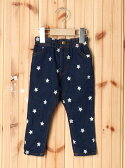 【SALE/35%OFF】X-girl Stages LONG PANT STAR EMBROIDERY(12M~3T) エックスガールステージス パンツ/ジーンズ【RBA_S】【RBA_E】【送料無料】