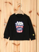 【SALE/35%OFF】X-girl Stages L/S TEE PATCHED POPCORN(12M~3T) エックスガールステージス カットソー【RBA_S】【RBA_E】