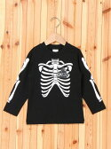 【SALE/40%OFF】X-girl Stages L/S TEE KIDS SKELETON エックスガールステージス カットソー【RBA_S】【RBA_E】【送料無料】