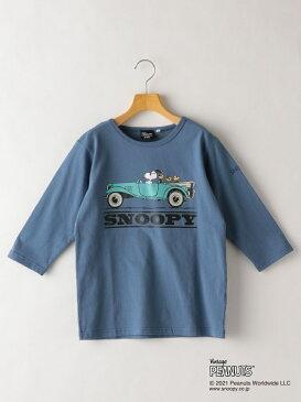 SHIPS KIDS SHIPS KIDS:スヌーピー 7分袖 TEE(145~160cm) シップス カットソー キッズカットソー ブルー ブラウン【送料無料】
