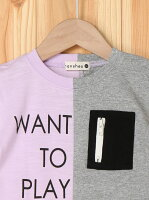 【SALE/40%OFF】branshes リメイク風半袖Tシャツ ブランシェス カットソー【RBA_S】【RBA_E】