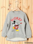 【SALE/40%OFF】X-girl Stages MICKEY/CREW SWEAT MAKES SOUND エックスガールステージス カットソー【RBA_S】【RBA_E】【送料無料】