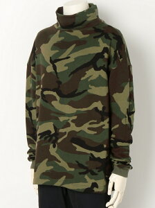 【SALE/40%OFF】TALKING ABOUT THE ABSTRACTION Camo Mockneck Sweather トーキング アバウト ジ アブストラクション ニット 長袖ニット【送料無料】