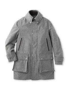 Super 100s Melton Coat 086-97012: Grey