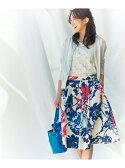 組曲 ビッグフラワープリント スカート クミキョク【送料無料】
