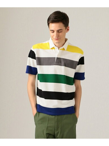 J. Press Short Sleeve Stripe Rugby Shirt KHOVKM0400: Green