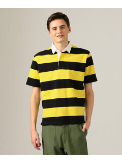 J. Press Short Sleeve Stripe Rugby Shirt KHOVKM0400: Yellow