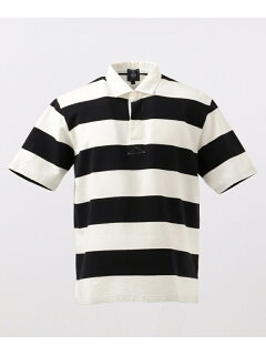 J. Press Short Sleeve Stripe Rugby Shirt KHOVKM0400: Navy
