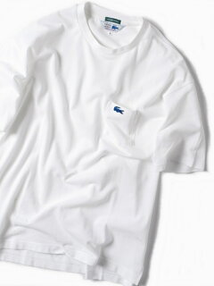 Pique Drop Tail Pocket Tee 112-12-1018: White