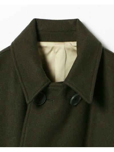 Melton Double Breasted Coat 11-19-0522-063: Olive Drab