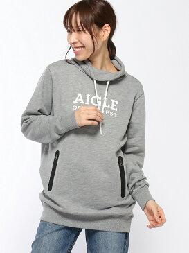 AIGLE ロゴプリントロングスウェットシャツ エーグル カットソー【送料無料】