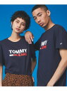 【SALE/50%OFF】TOMMY HILFIGER (U)TOMMY HILFIGER(トミーヒルフィガー) 【オンライン限定】ロゴTシャツ トミーヒルフィガー カットソー Tシャツ ネイビー ホワイト