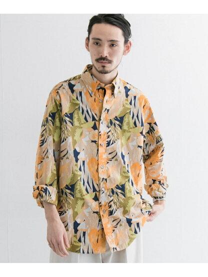 Madison Classic-Fit Sport Shirt, Tropical Print MG03497 100159399-UM04: Yellow