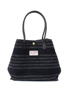 Harris Tweed Stripe Tote Bag 388-07141: Grey