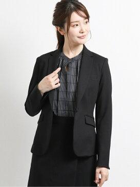 m.f.editorial ストレッチウォッシャブル ポンチ1ボタンジャケット+スカート 黒 タカキュー ビジネス/フォーマル スーツ ブラック【送料無料】