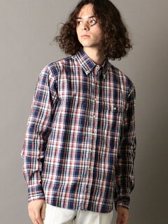 Madras Buttondown Shirt 121-17-0025: Navy