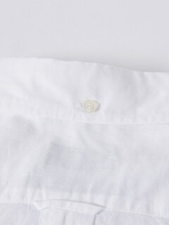 Cotton Linen Buttondown Shirt 121-17-0026: White