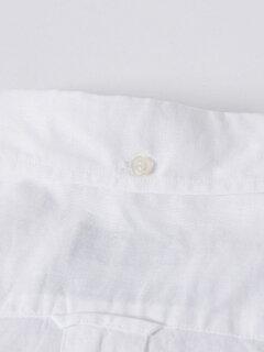 Cotton Linen Buttondown Shirt 121-17-0026: White
