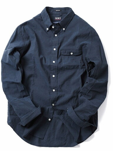 Cotton Linen Buttondown Shirt 121-17-0026: Navy