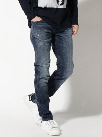 【SALE/40%OFF】SISLEY (M)スキニーデニムパンツ シスレー パンツ/ジーンズ スキニージーンズ ネイビー ブラック【送料無料】
