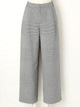 GLEN CHECK Wide Pants