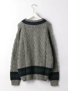 Wool Cricket Sweater 3213-499-1131: Grey