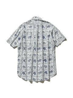 Lahaina Sailor Short Sleeve Button Down Shirt HHOVIA0611: White