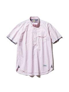 Oxford Lahaina Sailor Short Sleeve Popover Button Down Shirt HHOVIA0613: Pink Stripe