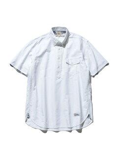 Oxford Lahaina Sailor Short Sleeve Popover Button Down Shirt HHOVIA0613: White