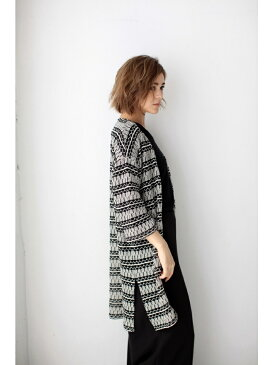 【SALE/70%OFF】AZUL by moussy ネイティブニットソー9分ガウン アズールバイマウジー カットソー【RBA_S】【RBA_E】