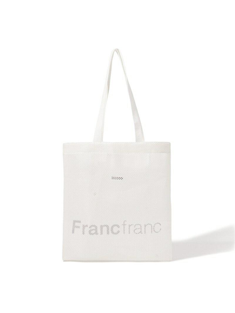 Francfranc ロゴトート メッシュ S フランフラン バッグ トートバッグ ホワイト