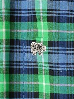 Scye Basics Plaid Buttondown Shirt 5120-31506: Kelly