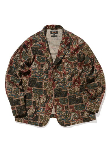 Batik Print 4 Button Jacket 11-16-1667-791: Batik