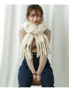 frames RAY CASSIN 【WEB限定】ボリュームマフラー レイカズン ファッショングッズ マフラー/スヌード ホワイト ブルー カーキ ピンク グレー