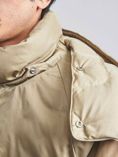 Nylon Taffeta Retro Down Coat 1125-199-7527: Beige