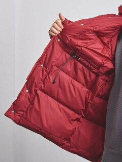Nylon Taffeta Retro Down Coat 1125-199-7527: Red