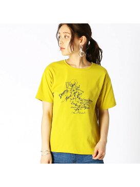 COMME CA ISM グラフィカルTシャツ コムサイズム カットソー Tシャツ イエロー ホワイト ブラック グリーン