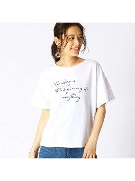 COMME CA ISM ロゴプリントTシャツ コムサイズム カットソー Tシャツ ホワイト ブラック イエロー グリーン
