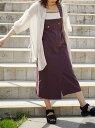 【SALE/70%OFF】179/WG アシメトリージャンパースカート イチナナキューダブリュジー スカート ジャンパースカート ブラウン ホワイト..