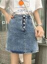 【SALE/40%OFF】Zoe Jenko (W)シンプルデニムスカート ゾエ ジェンコ スカート...
