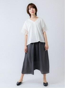 【SALE/70%OFF】shopDADA デザインサルエルパンツ(0S12-5049) ショップ ダダ パンツ/ジーンズ パンツその他 グレー ブルー ブラウン