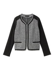 【送料無料】【50%OFF】UNTITLED ツイードジャージジャケット アンタイトル コート…