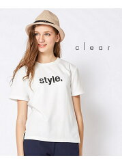 clear レディース カットソー クリアclear 【Sweet6月号掲載】【2ndline】 ロゴプリントTシャツ...