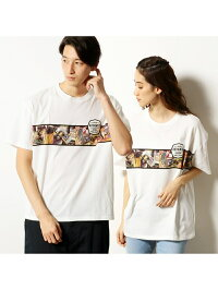COMME CA ISM フォトプリント半袖ビッグTシャツ